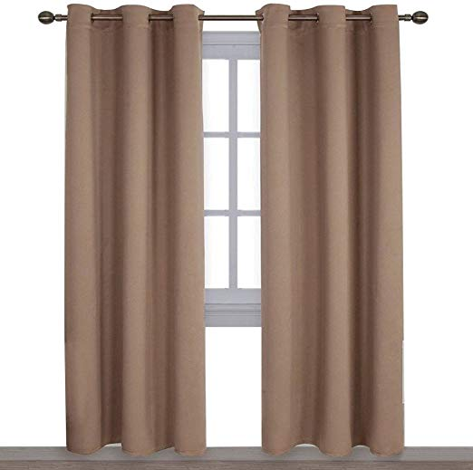 Utopia Bedding 2 Panels Grommet Blackout Curtains Thermal