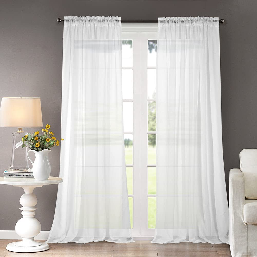 Dreaming Casa Solid Sheer Curtains Draperie