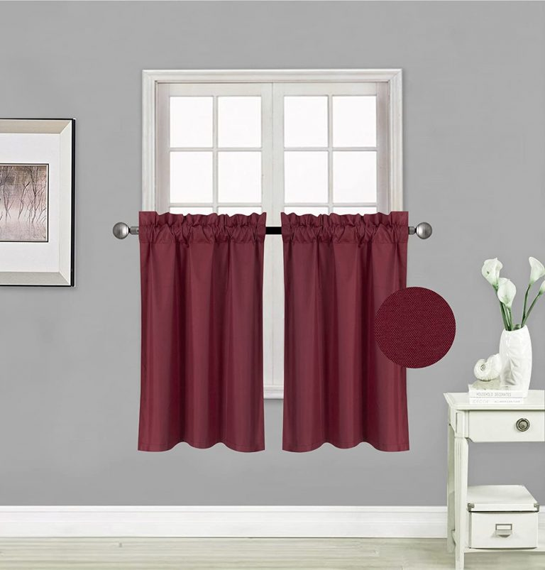 Elegant Home 2 Panels 36 Inch Tier Curtains