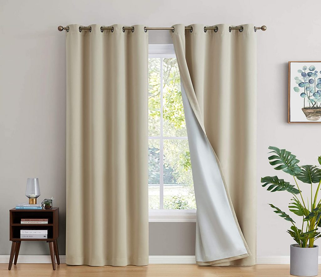 HLC.ME Blackout Curtains - Blackout Curtains for Bedroom