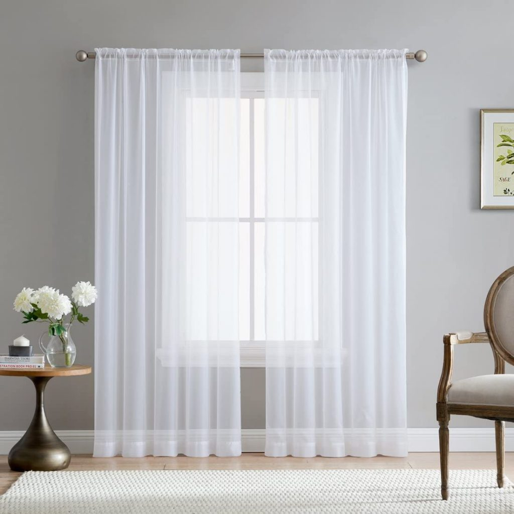 HLC.ME White Sheer Voile Window