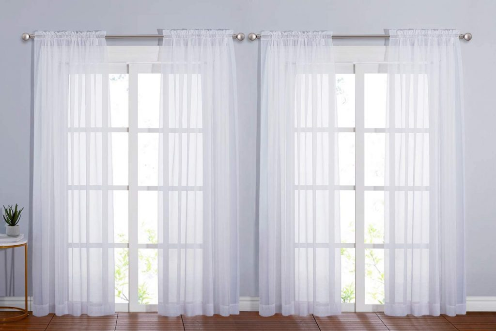 NICETOWN 4 Pieces Sheer White