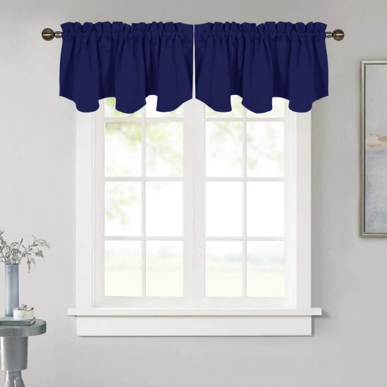 NICETOWN Blackout Window Valances Tier for Bedroom