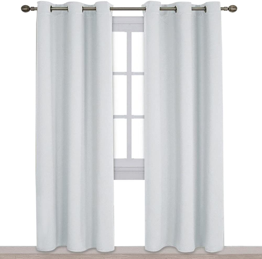 NICETOWN Easy Care Solid Thermal Insulated Grommet Room Darkening Curtains