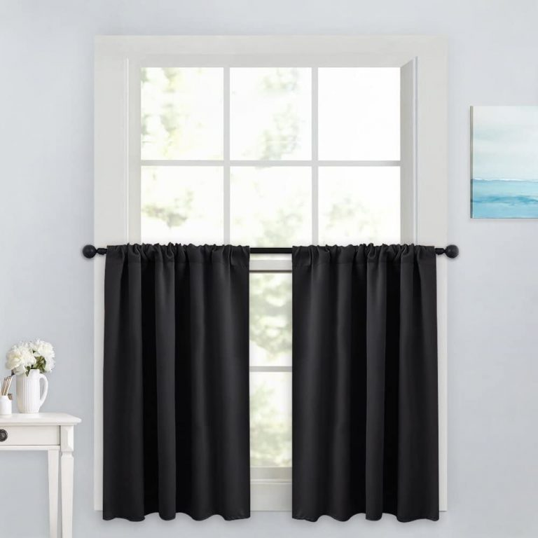 PONY DANCE Blackout 36 Inch Tier Curtains