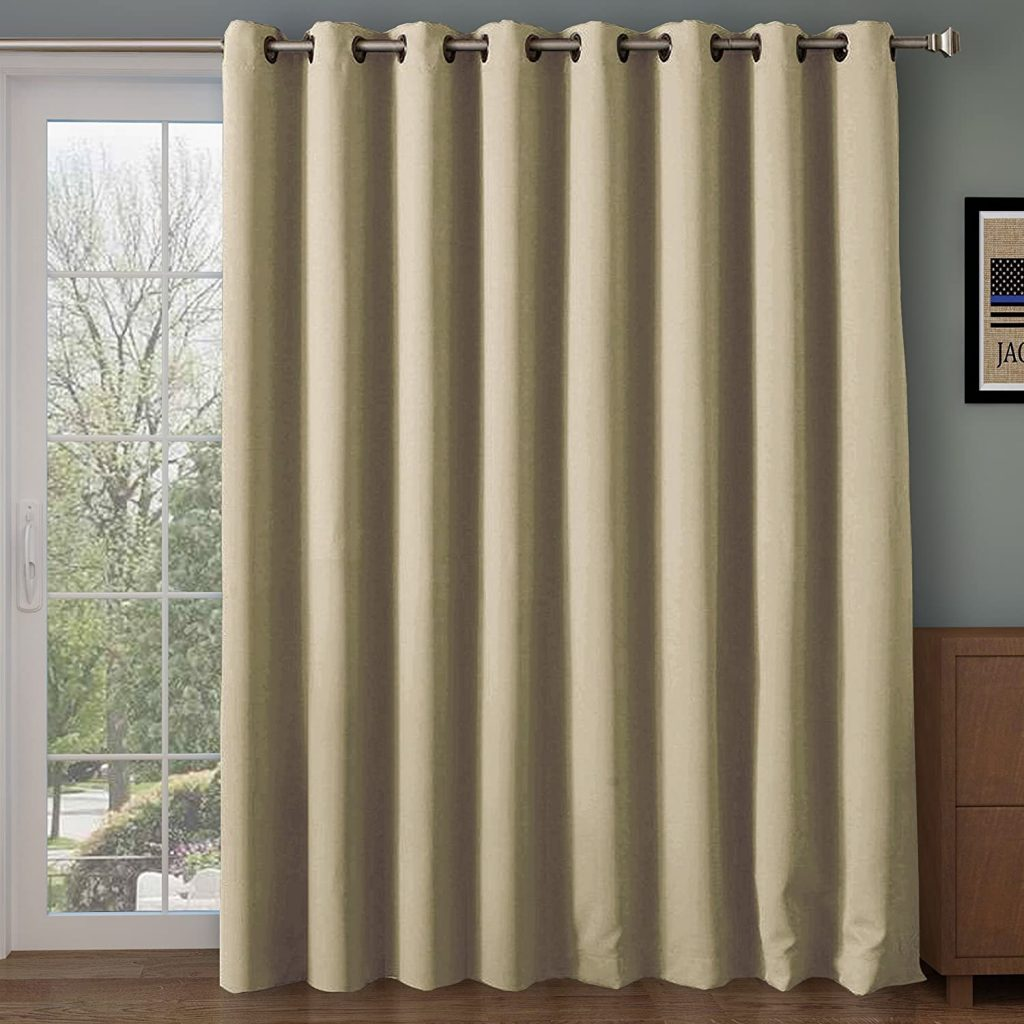 RHF Wide Thermal Blackout Patio Door Curtain Panel