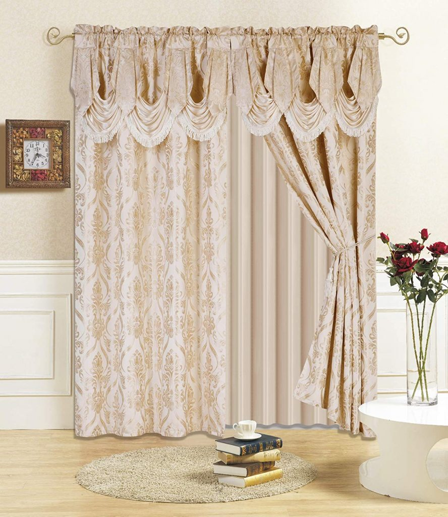 Valance and Sheer with 2 Tie Backs