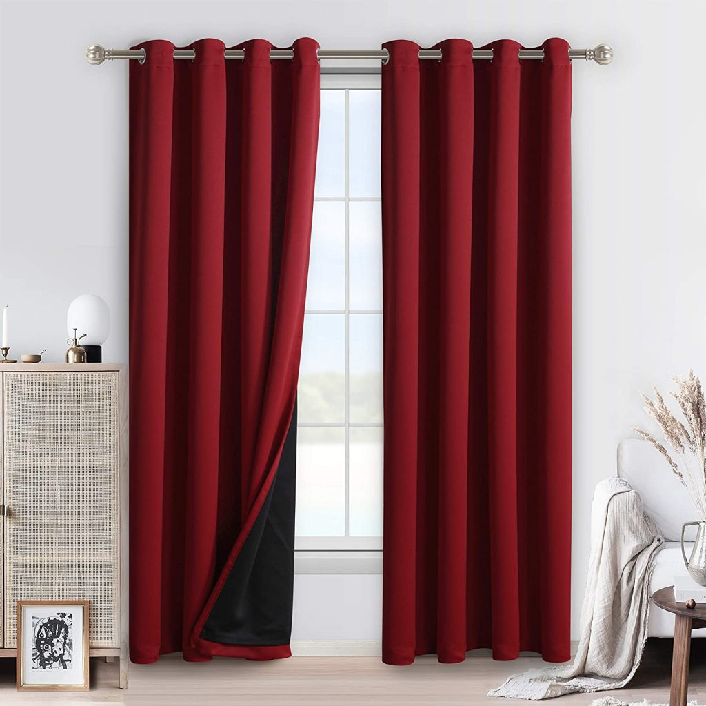 WONTEX 100% Blackout Curtains for Bedroom