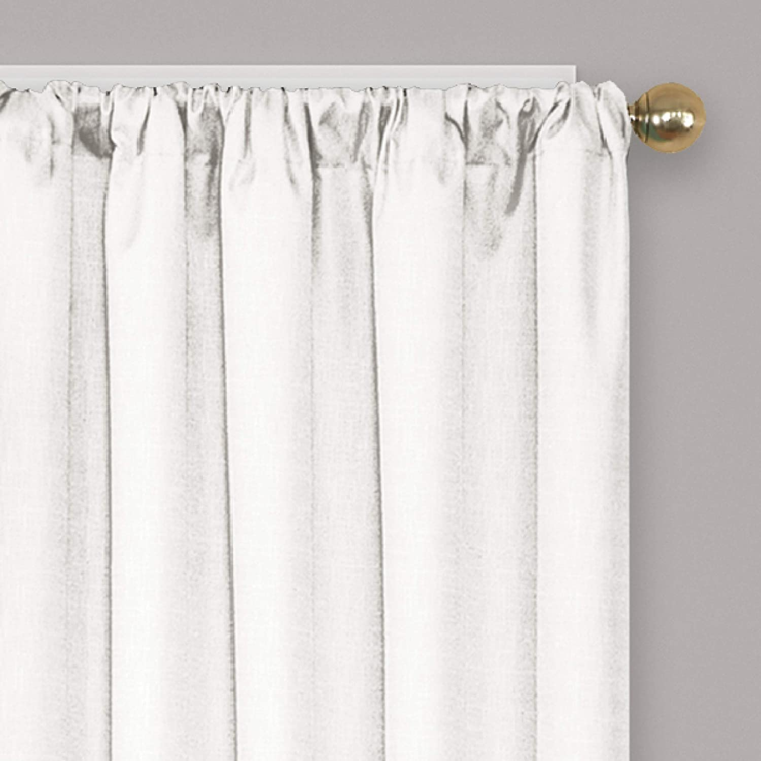 White Blackout Curtains