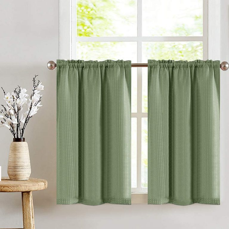 jinchan Water-Proof Waffle-Weave Textured Tier Curtains